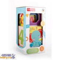 Деревянный набор из 4 кубиков-сортеров и формочек Fisher Price ( Игрушки, Fisher Price )