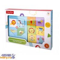 Деревянная настольная игра с 24 фишками и 6 карточками Найди животное Fisher Price ( Игрушки, Fisher Price )