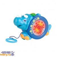Игрушка-каталка на шнурке (носорог) ( Игрушки, Hap-p-Kid )