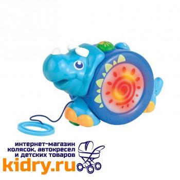 Игрушка-каталка на шнурке (носорог)