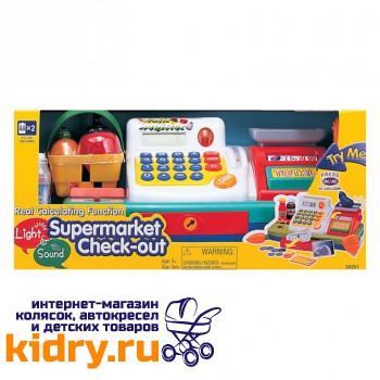 Набор Супермаркет:кассов. аппарат, продукты-свет,звук
