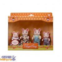 Семья белых мышек ( Игрушки, Village Story )