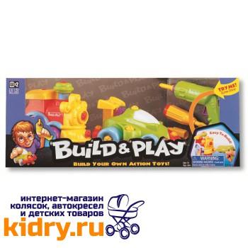 Набор BUILDN PLAY -машина+паровозик в коробке