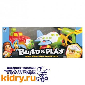 Набор BUILDN PLAY -самолет+джип( 2 в 1 )