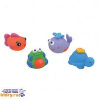 Набор для ванны из 4-х игрушек (черепашка, кит, рыбка, лягушка) ( Игрушки, K'S Kids )