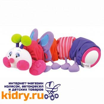 Развивающая мягкая игрушка Гусеничка-бабочка