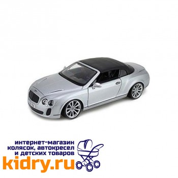 1:18 BB Машина СБОРКА BENTLEY Continental Supersports Convrtible ISR металл. в закрытой упаковке