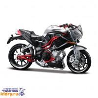 1:18 BB Мотоцикл СБОРКА Benelli TNT Titanium металл.