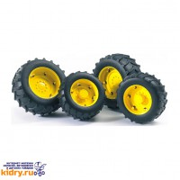 Аксессуары A: Шины для системы сдвоенных колёс с жёлтыми дисками 4шт. (диам задн 10,4см, диам передн
