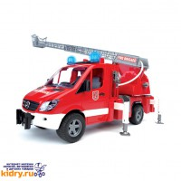 MB Sprinter пожарная машина с лестницей и помпой с модулем со световыми и звуковыми эффектами ( Игрушки, Bruder )