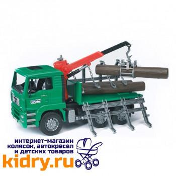 Лесовоз MAN с портативным краном и брёвнами (подходит модуль со звуком и светом H)