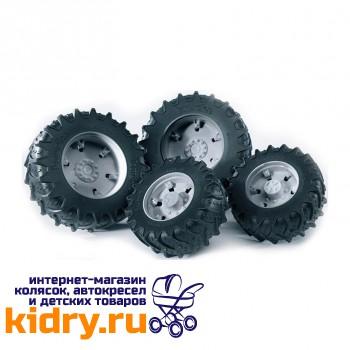 Аксессуары K: Шины для системы сдвоенных колёс с серыми дисками 4шт. (диам задн 12,5см, диам передн