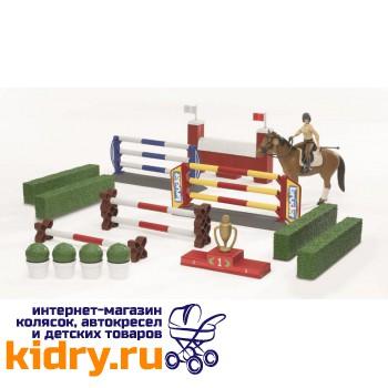 Большой набор для скачек с фигурой всадницы и лошадью