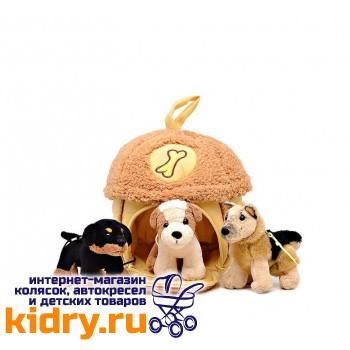 Домик-сумка с 3-мя собачками, 15х16 см