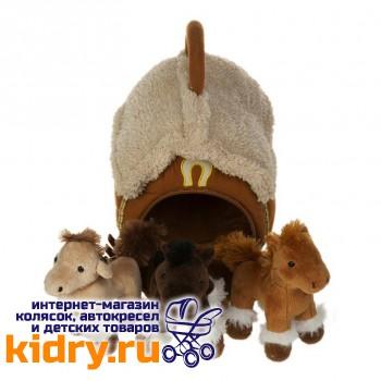 Домик-сумка с 3-мя лошадками, 15х16 см