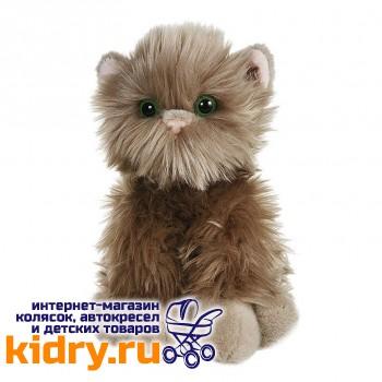 Серый котик пушистик, 23 см
