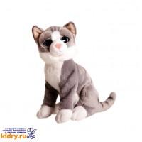 Котик серый Глазастик, 25 см