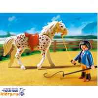Конный клуб: Кнабструбская лошадь со стойлом ( Игрушки, Playmobil )