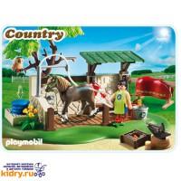 Лошади: Мойка для лошади с лошадью ( Игрушки, Playmobil )