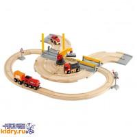 Железная дорога - переезд BRIO (26 элементов) ( Игрушки, Железные дороги, Деревянная железная дорога BRIO