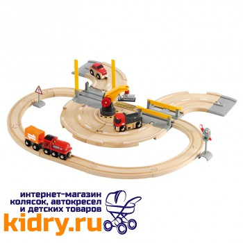 Железная дорога - переезд BRIO (26 элементов)