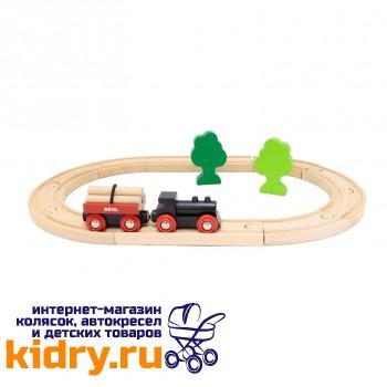 Железная дорога с грузовым поездом (18 элементов)