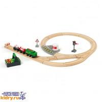 Железная дорога с поездом на р/у BRIO (23 элемента) ( Игрушки, Железные дороги, Деревянная железная дорога BRIO