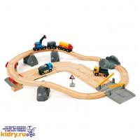 Набор железной дороги с автодорогой и переездом BRIO (26 элементов) ( Игрушки, Железные дороги, Деревянная железная дорога BRIO