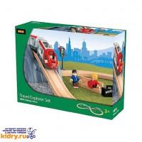 Железная дорога с поездом Туннель в горе BRIO (26 элементов) ( Игрушки, Железные дороги, Деревянная железная дорога BRIO