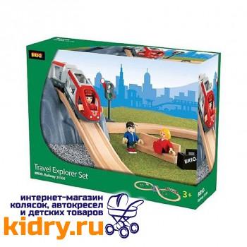 Железная дорога с поездом Туннель в горе BRIO (26 элементов)