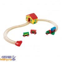 «Моя первая железная дорога» BRIO (15 элементов) ( Игрушки, Железные дороги, Деревянная железная дорога BRIO