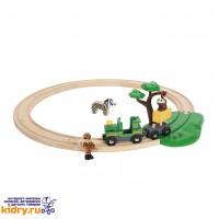 Железная дорога Сафари BRIO (17 элементов) ( Игрушки, Железные дороги, Деревянная железная дорога BRIO