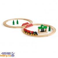 Железная дорога BRIO с вокзалом (22 элемента) ( Игрушки, Железные дороги, Деревянная железная дорога BRIO